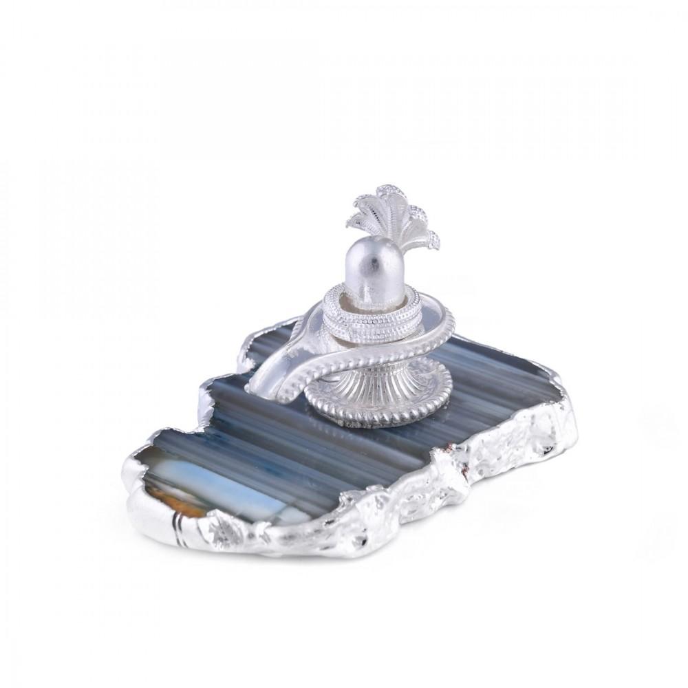 Silver Shivalinga Religious Idol