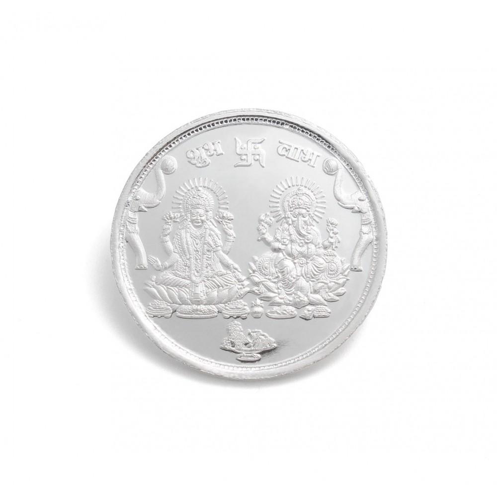 Lakshmi & Ganesh Ji Silver Coin