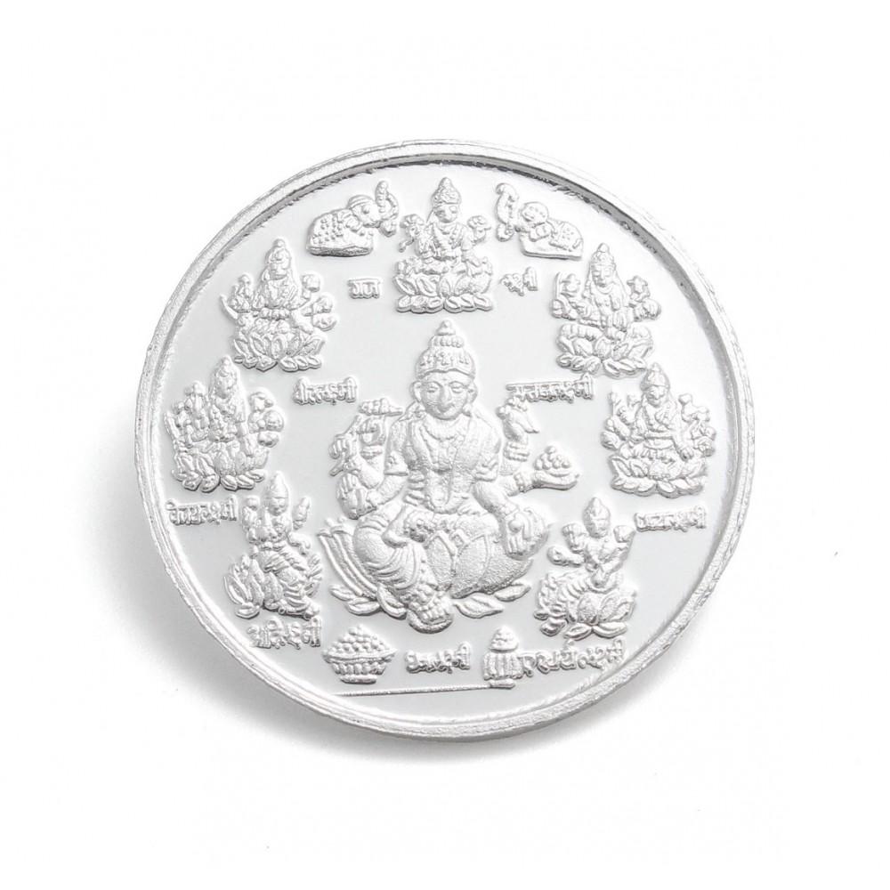 Goddess Ashtalakshmi  Silver Coin