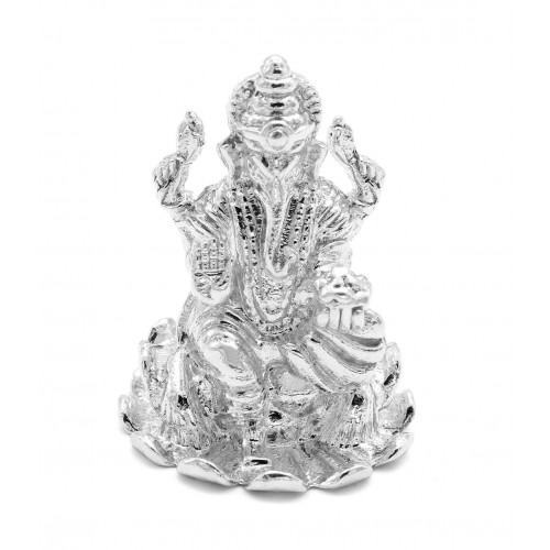 White Lord Ganesha Idol