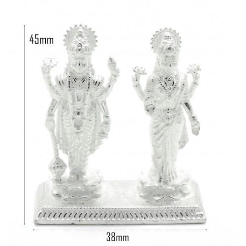 White Lord Satyanarayan & Laxmi ji Idol