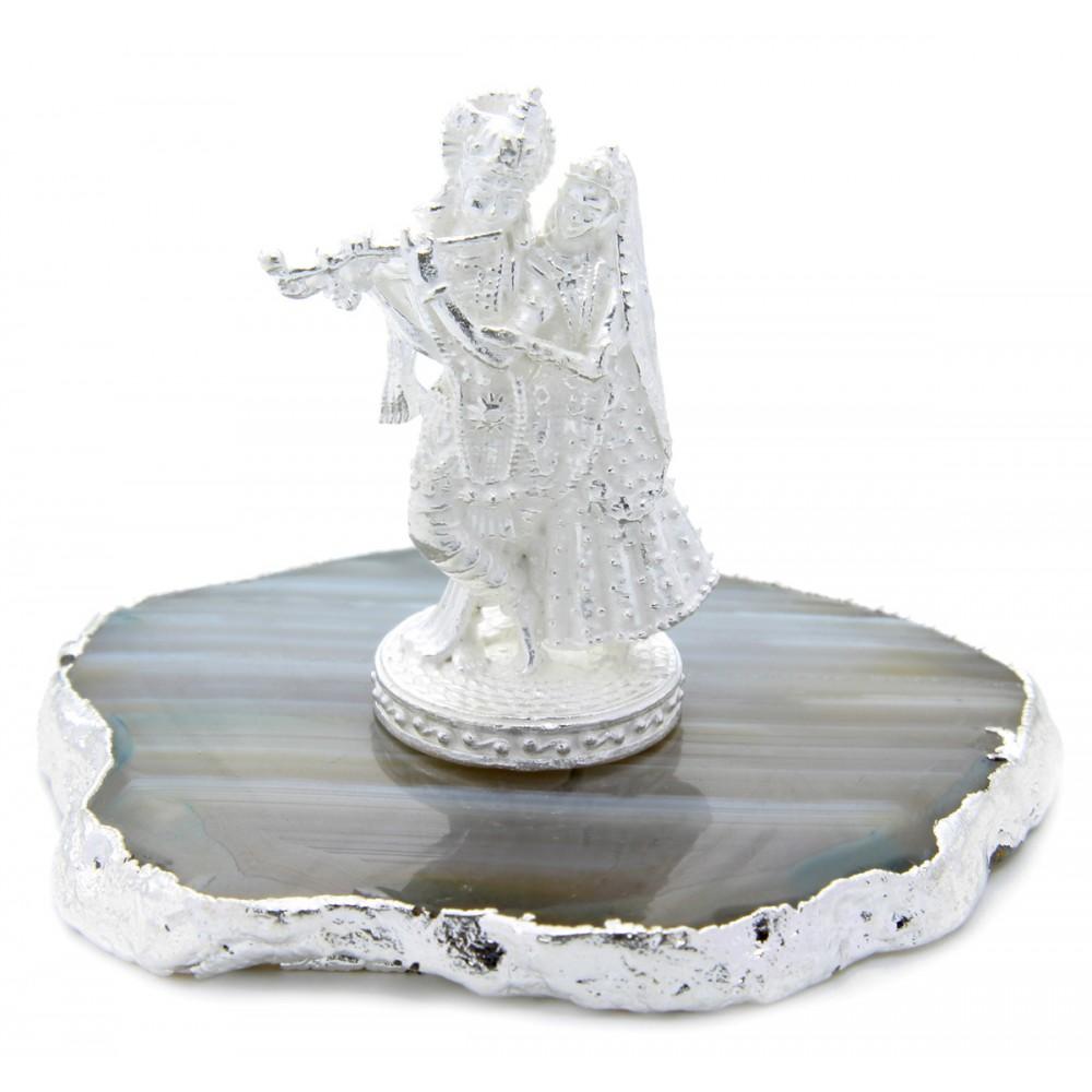 21 gm Religious Silver Radha Krishan Idol/Murti