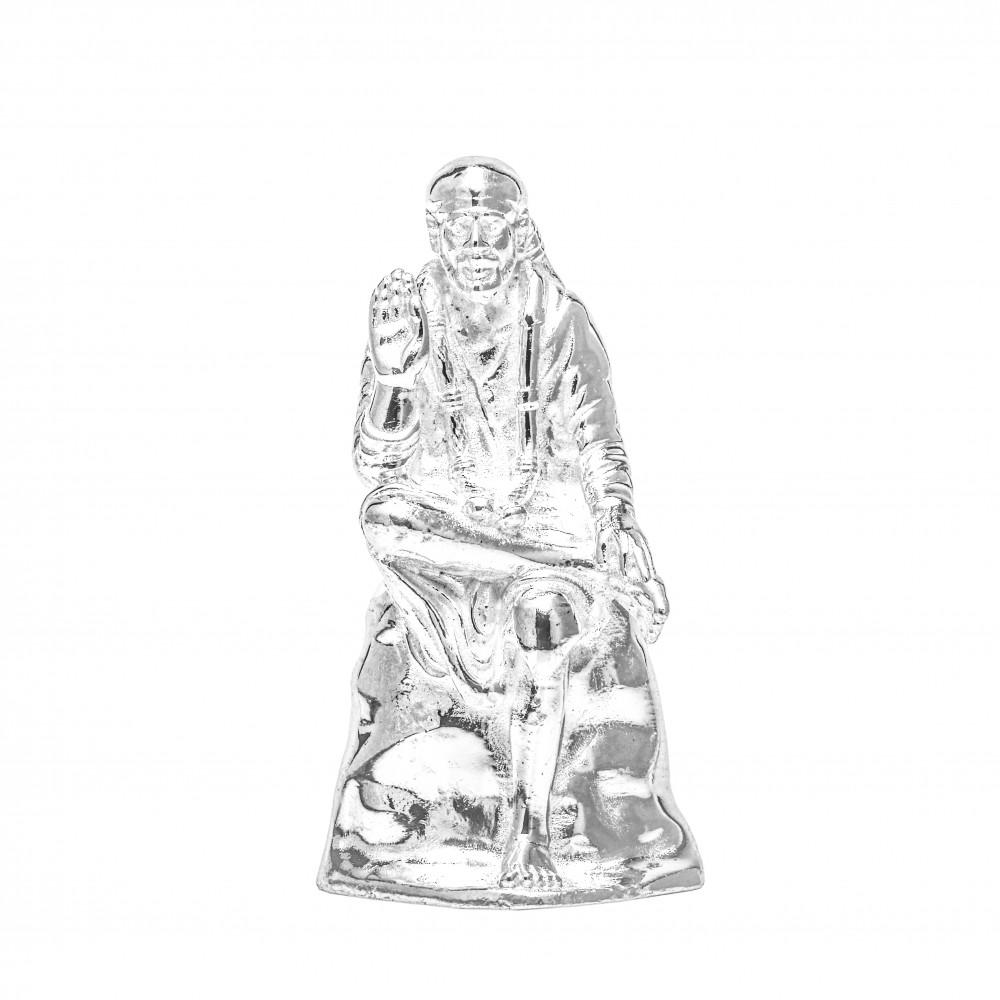 Religious Silver Sai Baba Idol