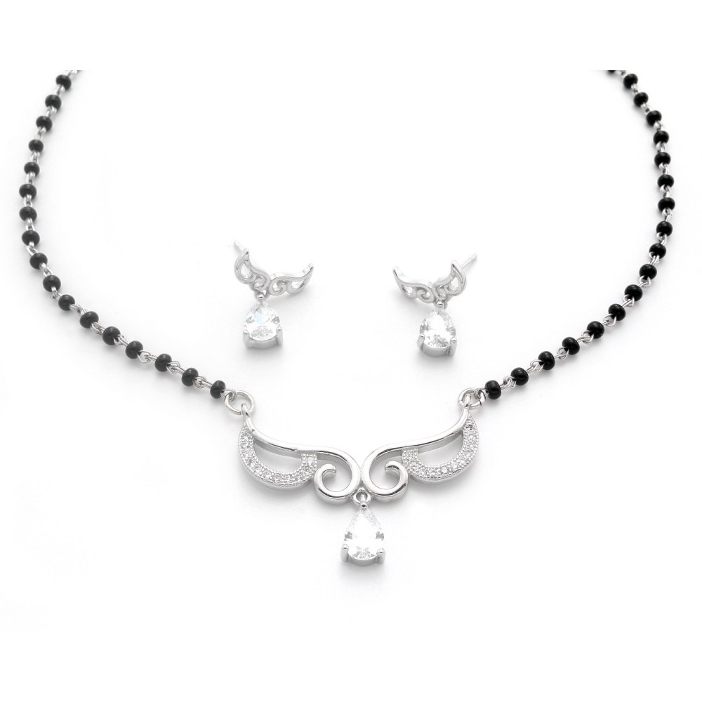 Drop Design Mangalsutra With Earrings