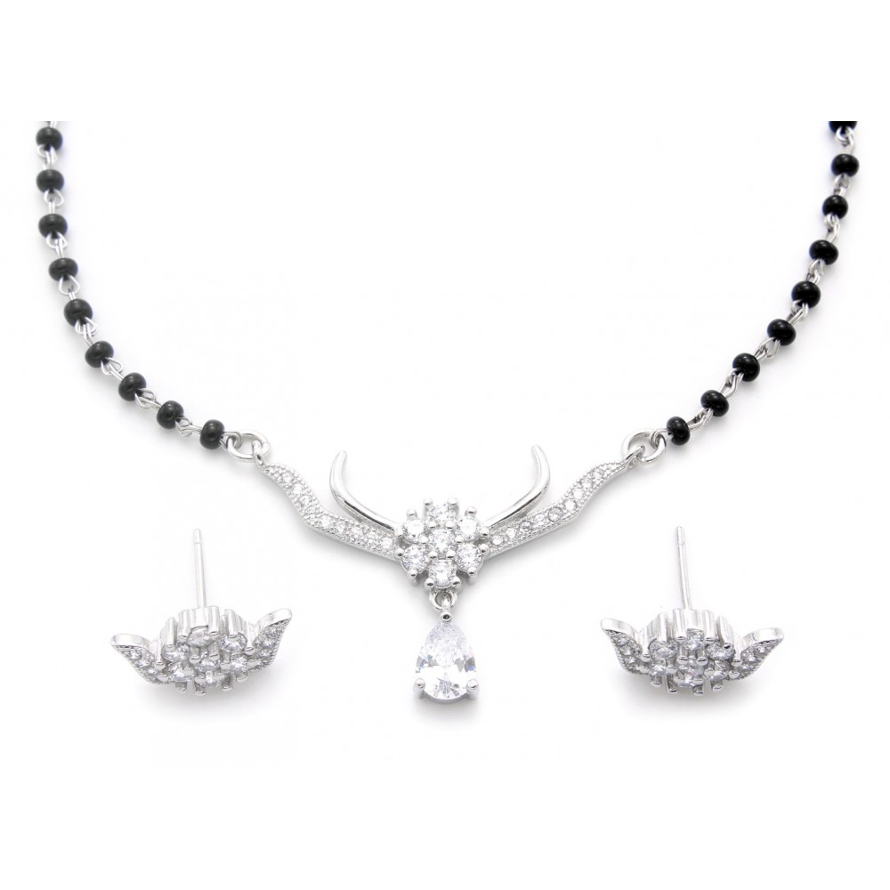 Designer Drop Mangalsutra With Earrings