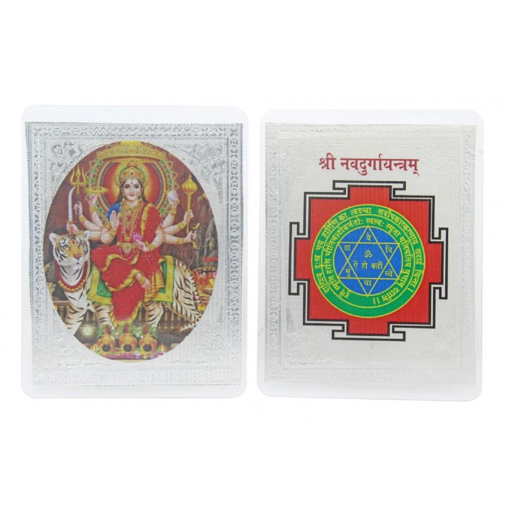 999 Sterling Silver Shree Navdurga Yantra for Dhanteras and Diwali