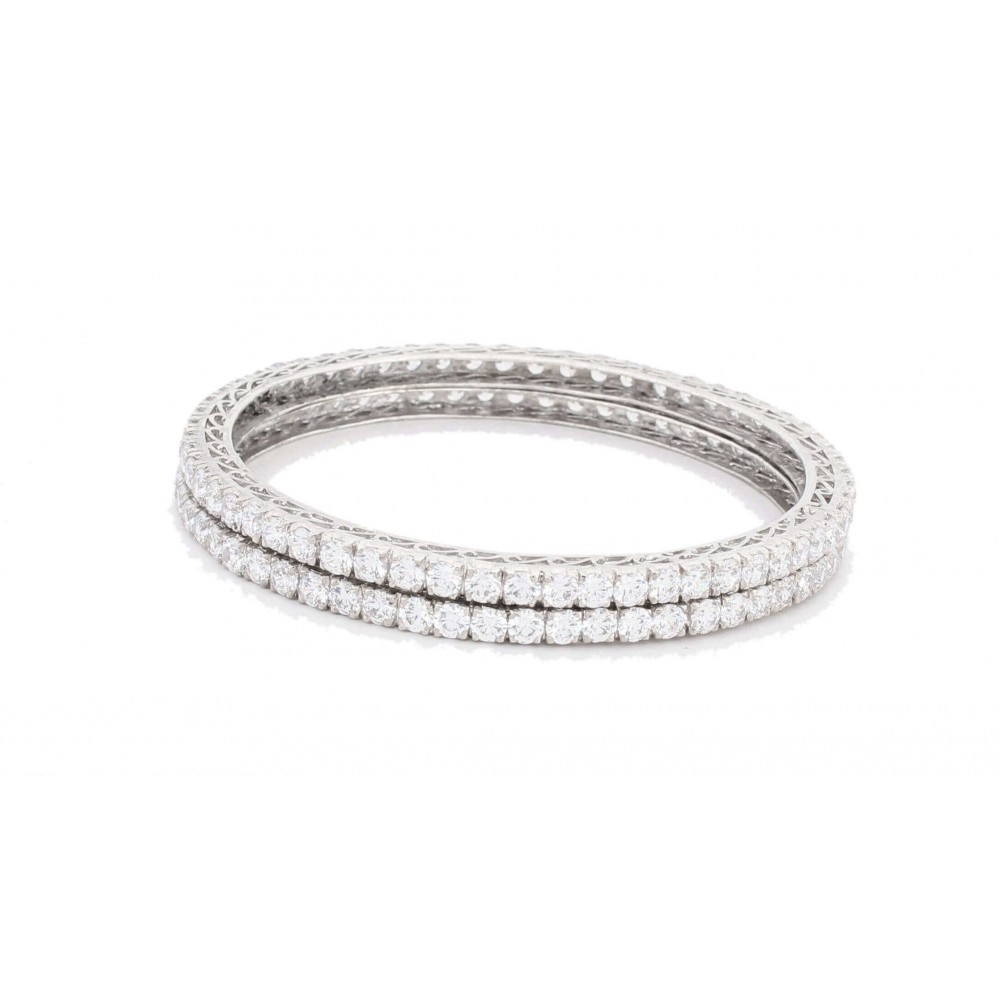 Round Cut Swarovski Bangle