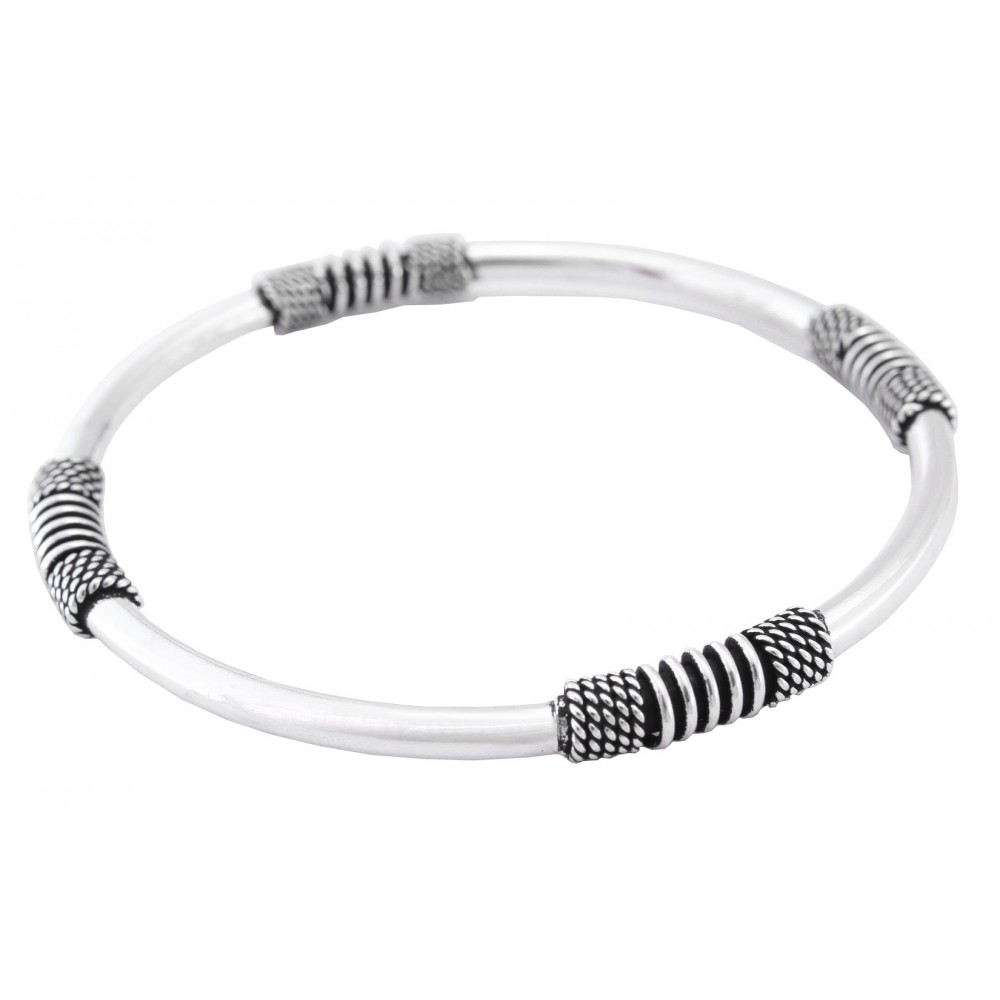 Designer Oxidized Bangle Bracelet