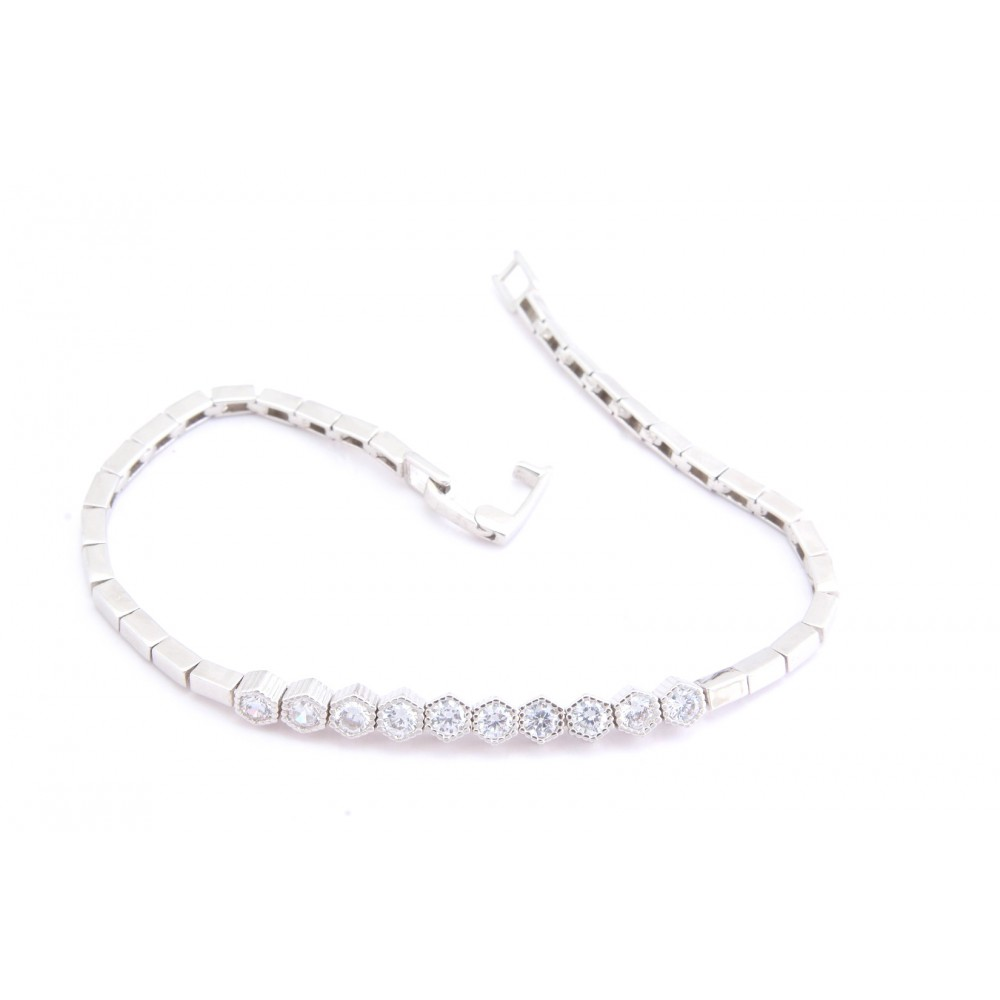 CZ Studded Single Line Bracelet