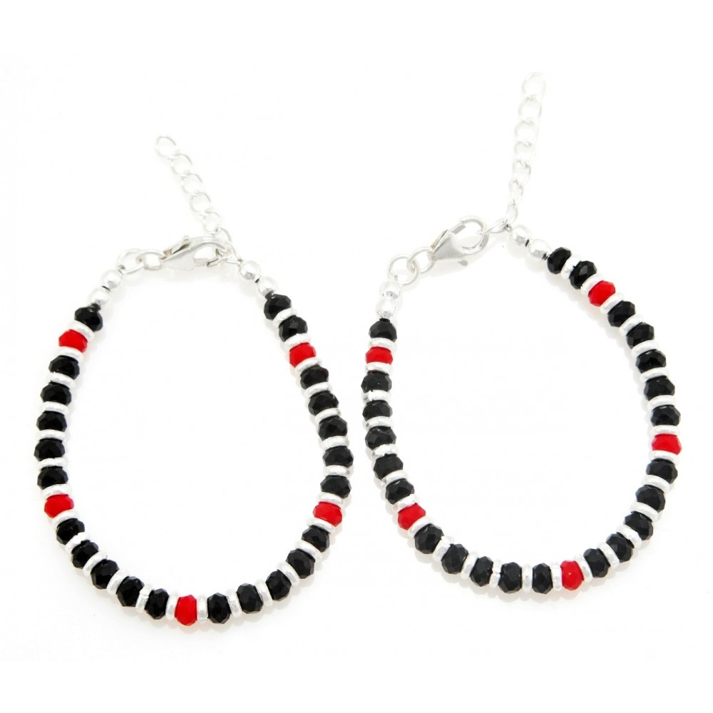 Black & Red Bead Baby Nazaria