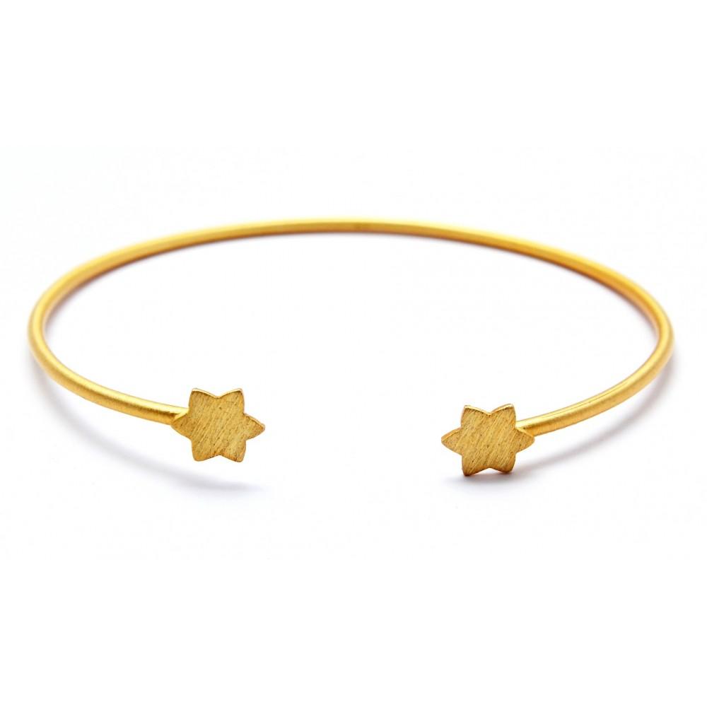 Gold Star Designer Bracelet
