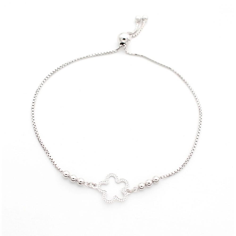 Studded Designer Flower Bracelet