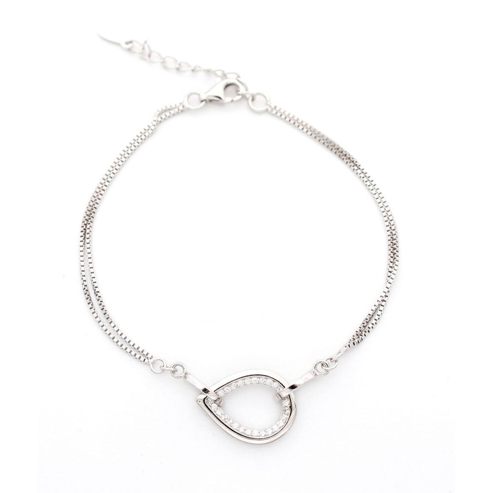 Designer Studded Leaf Bracelet