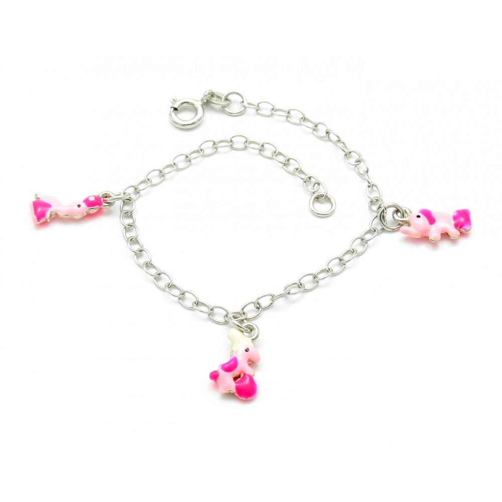Stylish Kids Silver Bracelet