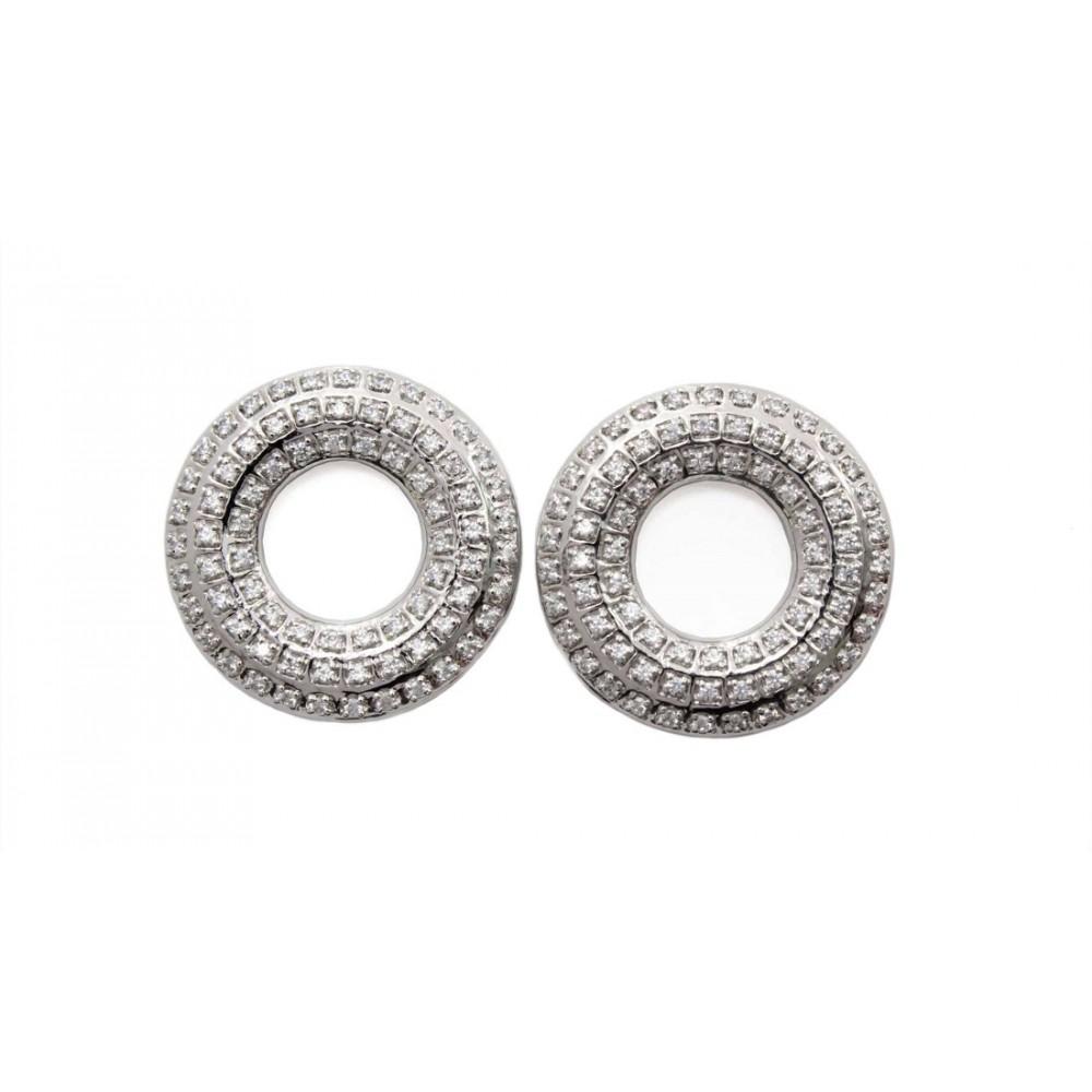 Designer Swarovski hoop Earring