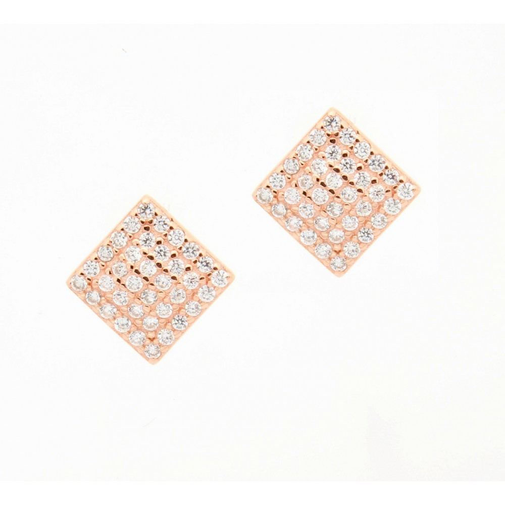 ROSE GOLD	Square Studded Earring