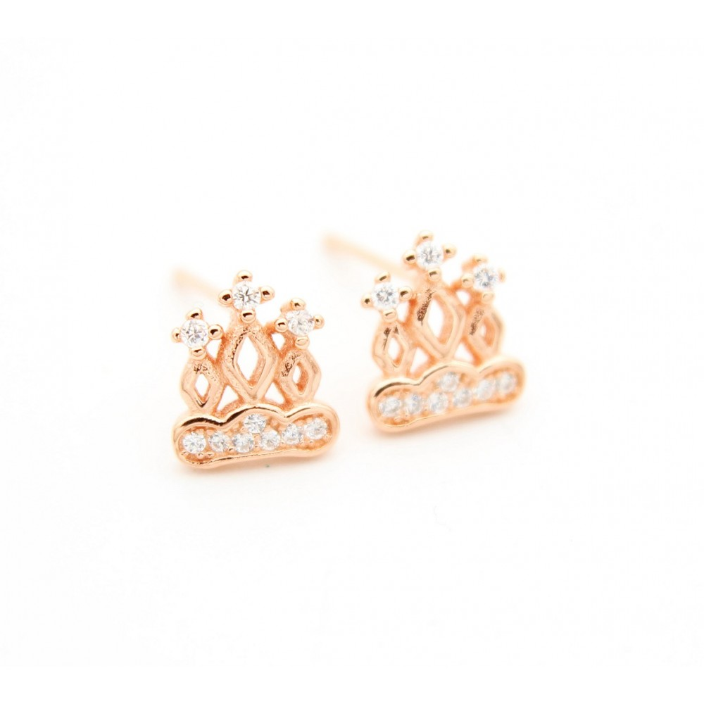 ROSE GOLD	Crown Earring Stud