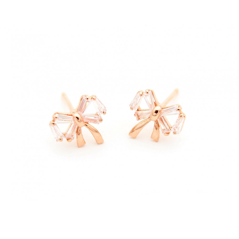 ROSE GOLD	Bow Earring Studs