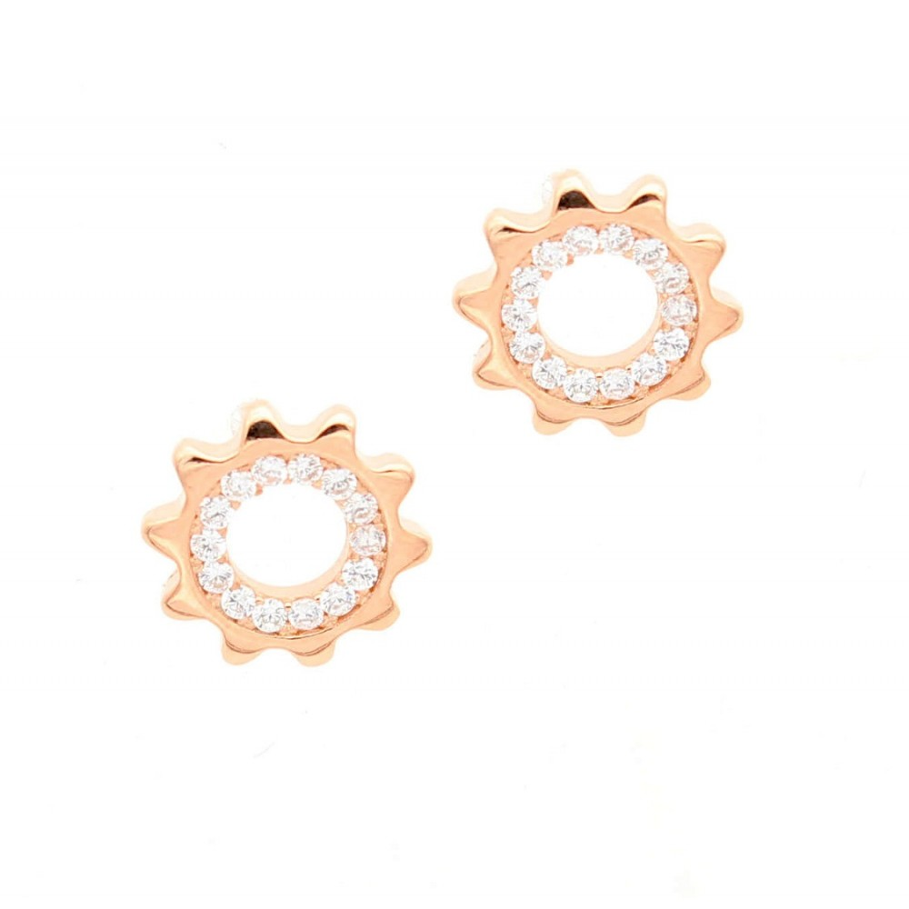 ROSE GOLD	Big Sun with Small Rays Earring Studs