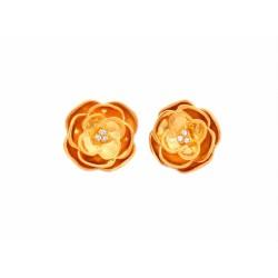 Gold Flower Studs
