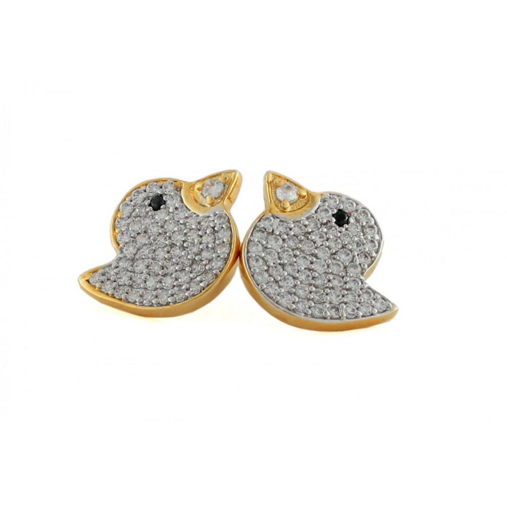 Bird Design Swarovski Studs