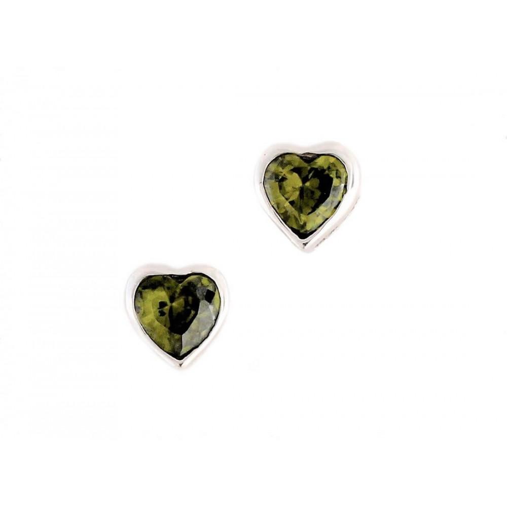 Green Heart Studs