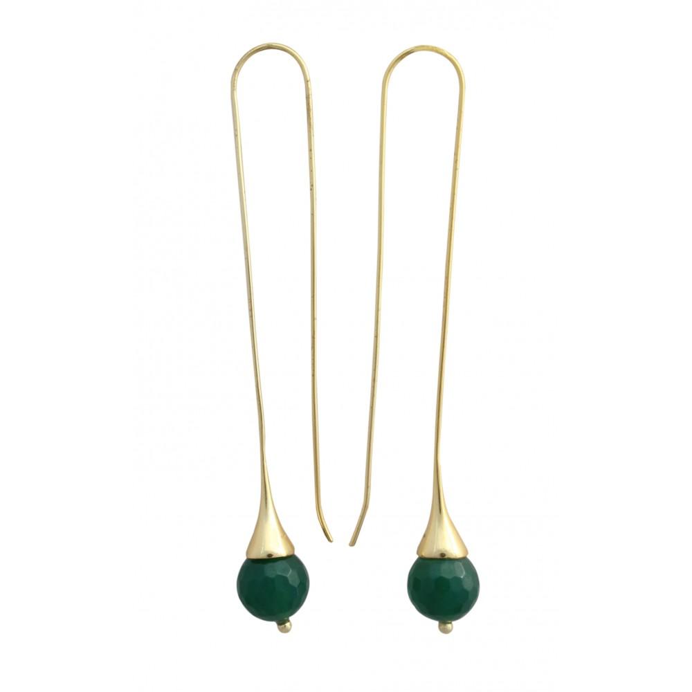 Green Earwire Dangler
