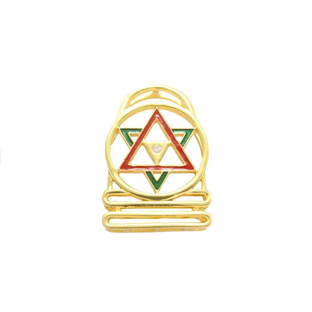 Gold Plated Shivalinga Yantra Pendant without chain
