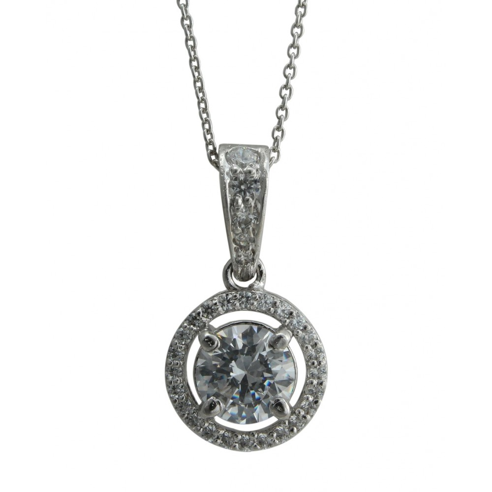 Swarovski Pendant With Chain