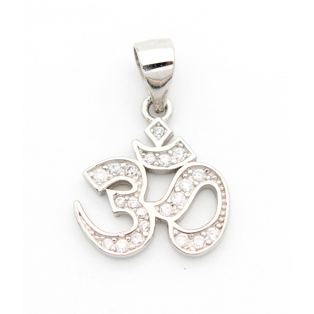 Om with stone studded Pendant