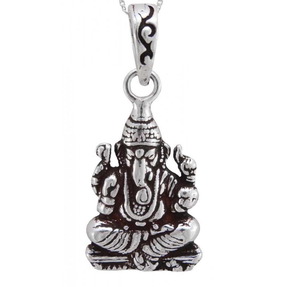 Vinayaka Oxidized Silver Pendant