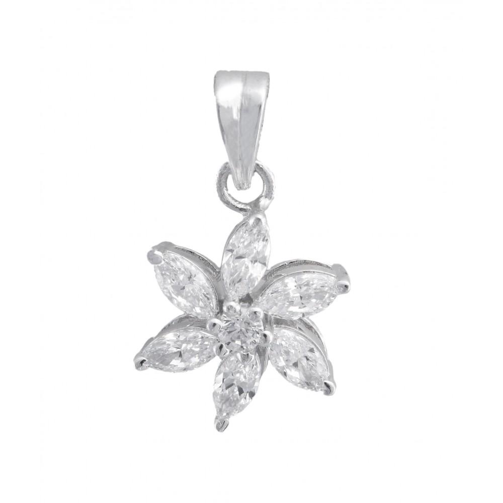 Marquise Flower Pendant