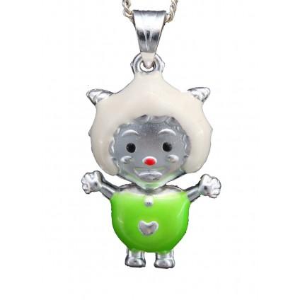 Adorable Rotating Neck Doll Pendant