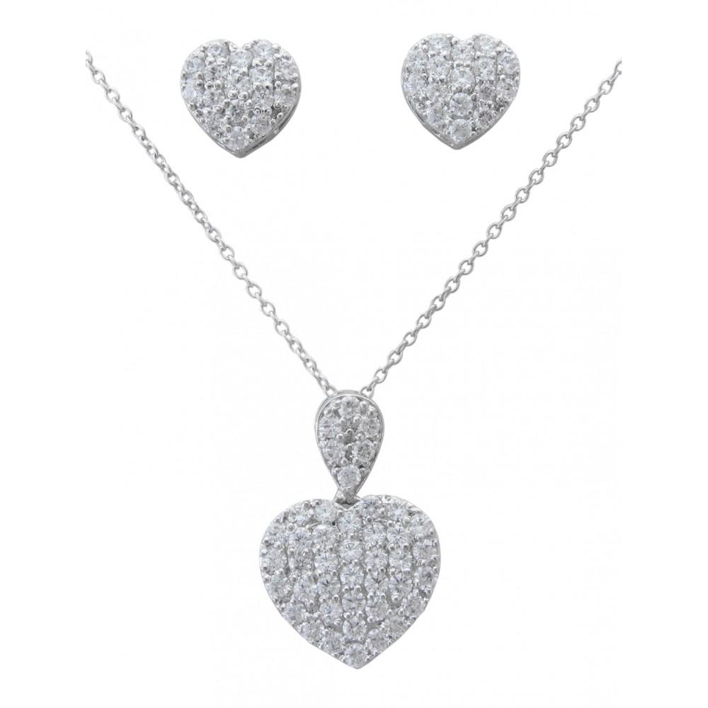 Swarovski Heart Pendant set