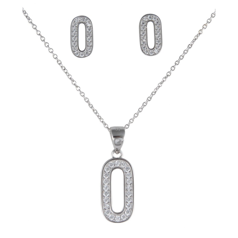 Oval Shape Designer Pendant Set