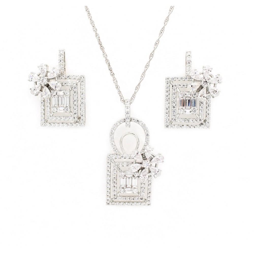 Flower purse pendant set