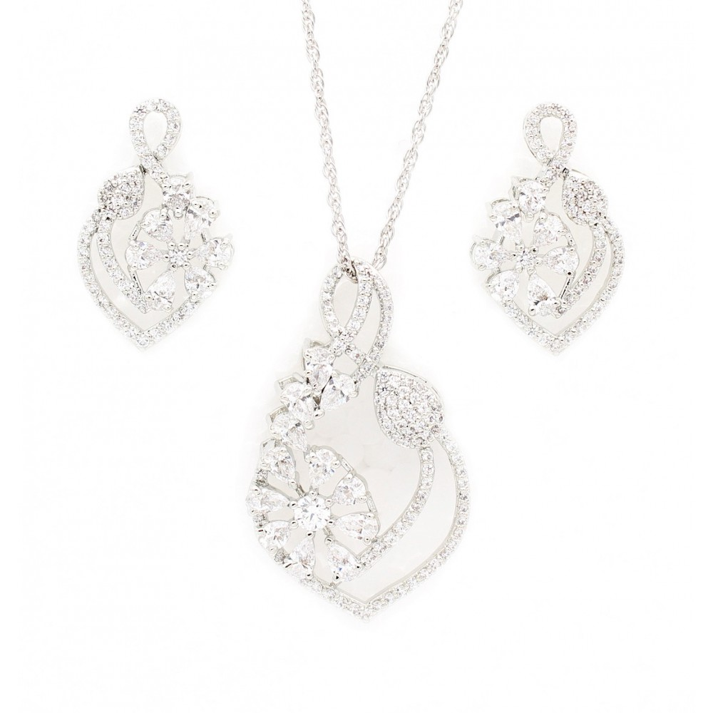 Flower Drop pendant set