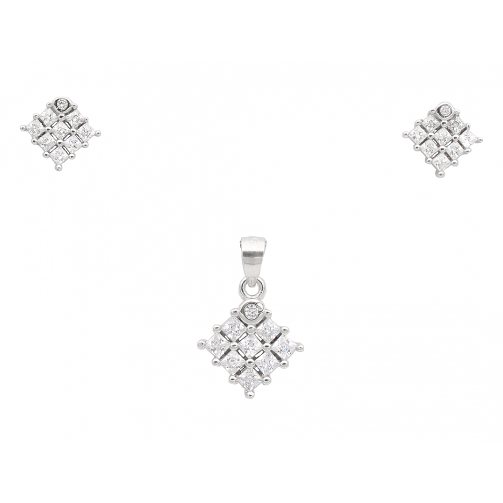 Diamond Shape Pendant Set