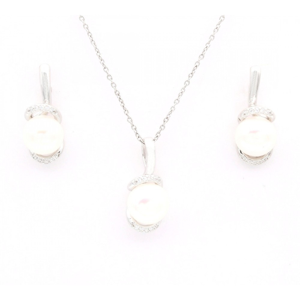 Single Pearl Pendant Set