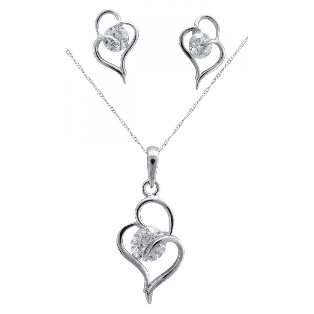 Solitaire Pendant Set
