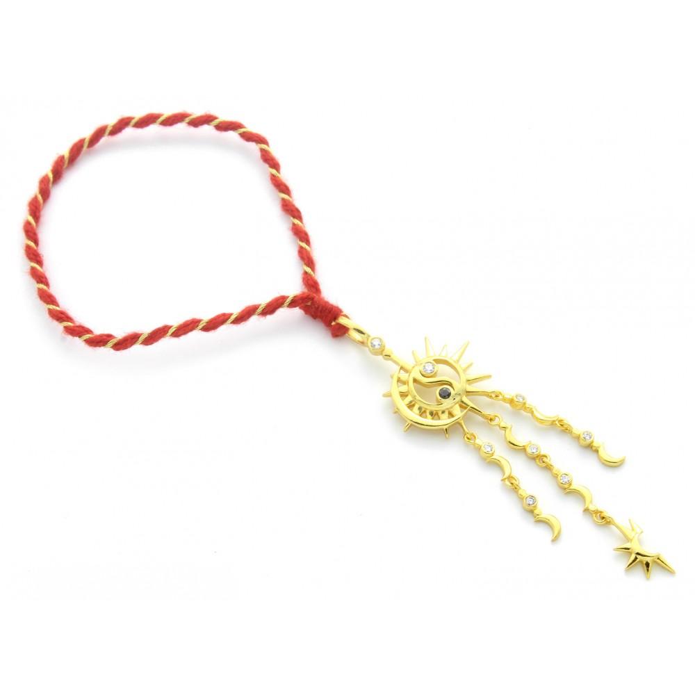 Sun-Moon Ying Yang Lumba Rakhi