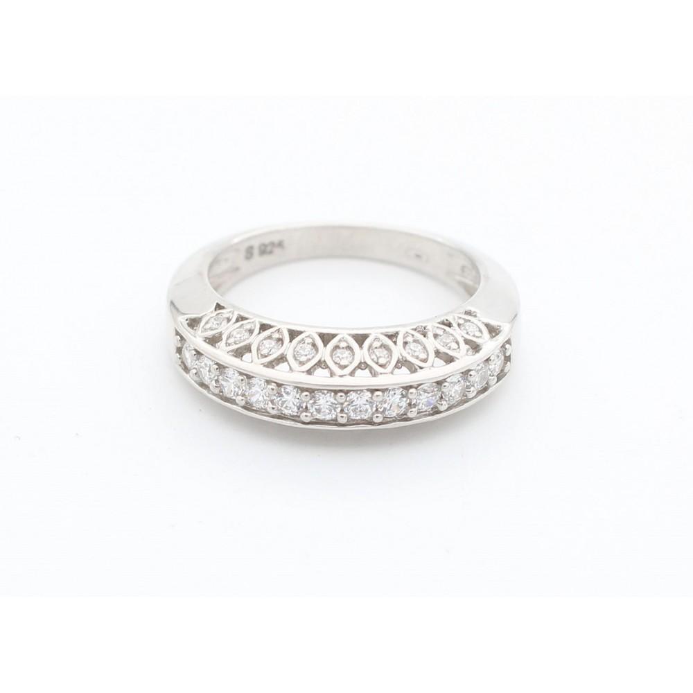 Half Band Studded Designer Ring