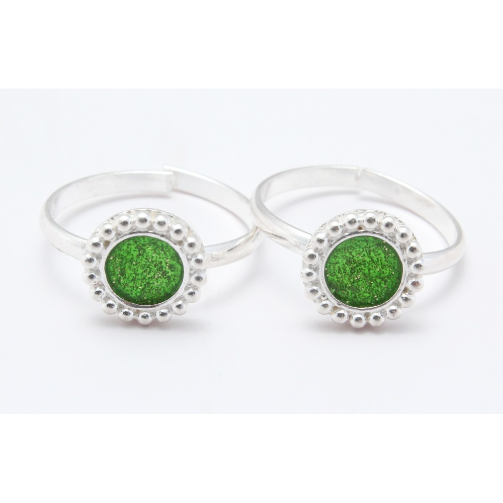 PARROT GREEN CIRCLE TOE RING