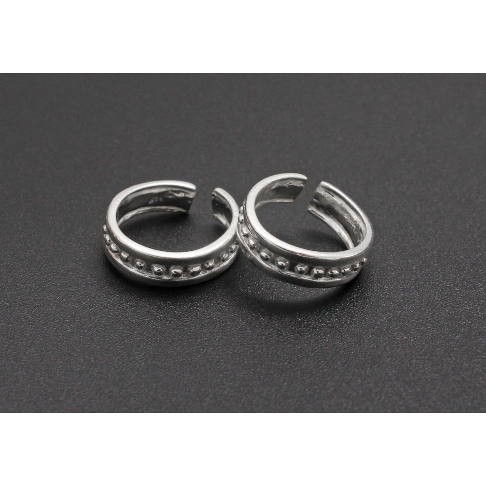 Silver Band Toe Ring